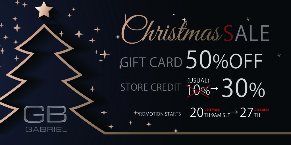 Christmas Sale @Gabriel !